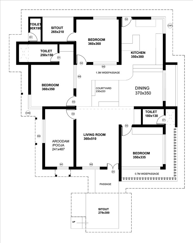 1500 square feet 3 bedroom contemporary home design and for Modern house plans 1500 square feet