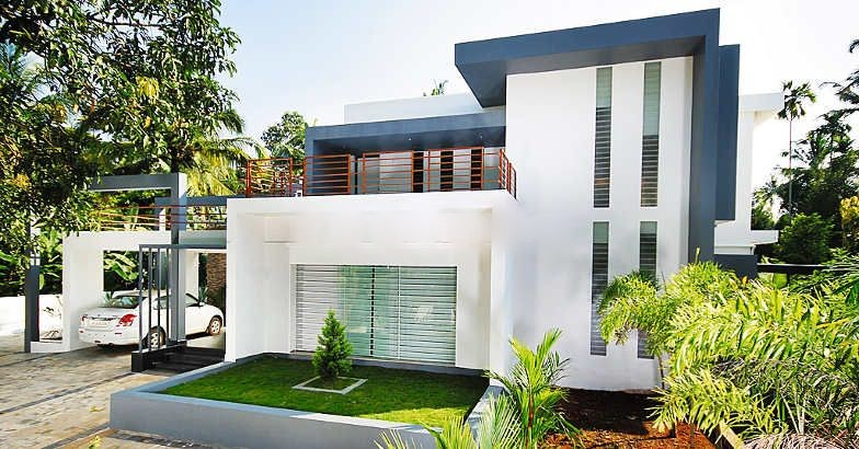 Kerala Style Contemporary Minimalist Home Design With 4 Bedroom ...