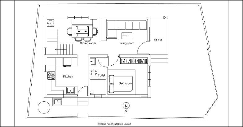 1300 square feet 2 bedroom two story low budget home for 1300 sq ft house plans 2 story