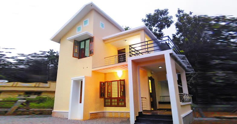 1650 square feet 3 bedroom double floor low budget kerala for Kerala home designs low cost