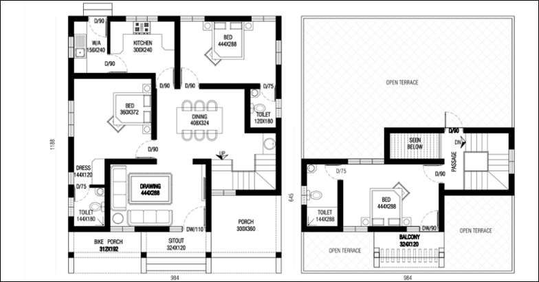 1670 Square Feet 3 Bedroom Contemporary Home Design and Plan
