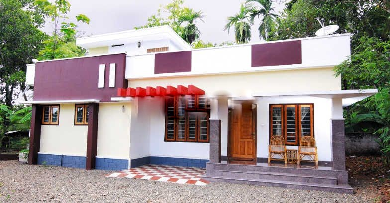 1050 square feet 2 bedroom low budget kerala home design Low budget house plans