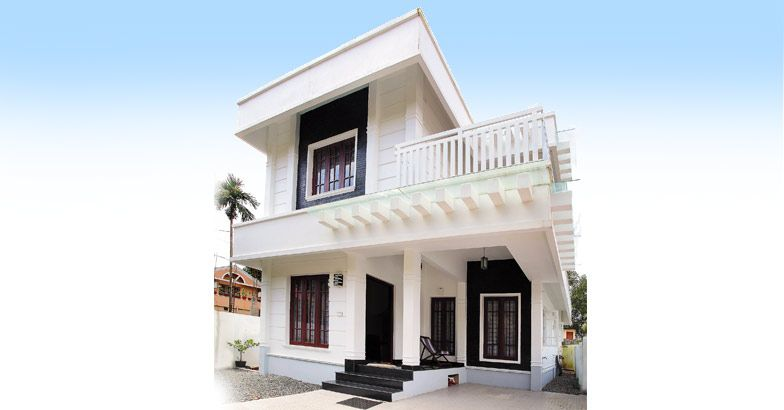 1392 Square Feet 3 Bedroom Two Story Home Design at 3.5 Cent Plot and Plan