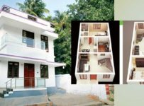 1350 Square Feet 3 Bedroom Two Story Home Design at 3.25 Cent Plot with Plan