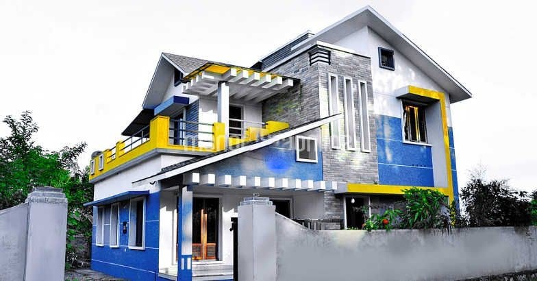 2053 Square Feet 4 Bedroom Fusion Style Traditional Home Design and Plan