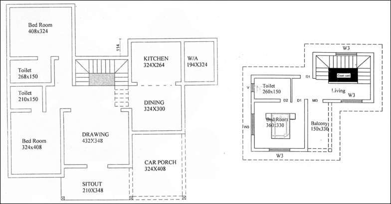 1800 Square Feet 3 Bedroom Contemporary Home Design and Plan Cost For 28 Lacks