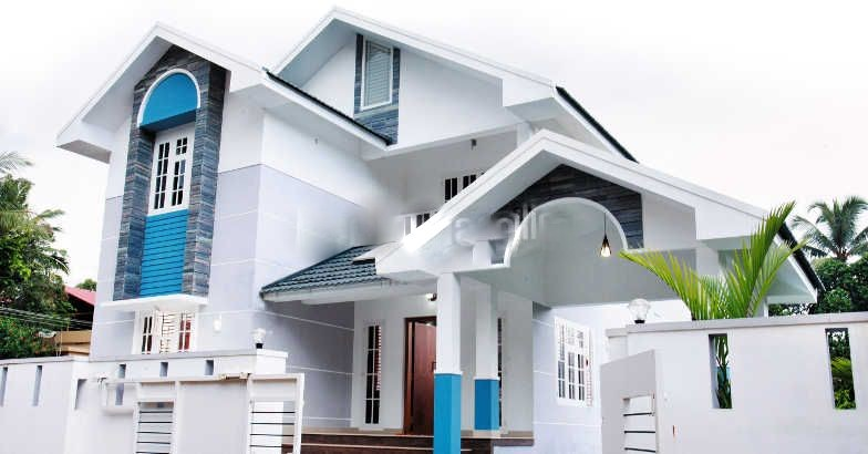 2055 square feet 5 bedroom open concept kerala style home for Kerala veedu design