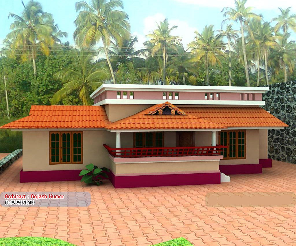 1000 Sq 1024x850 - View Low Budget Small House Design For Village Background