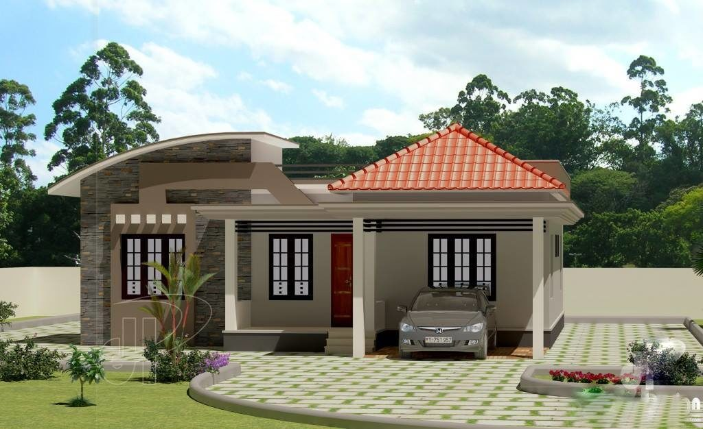 1100 square feet 3 bedroom low budget home design and plan - Home design photo ...