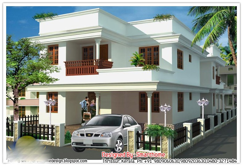 1700 Square Feet 3 Attached Bedroom Double Floor Home Design and Plan
