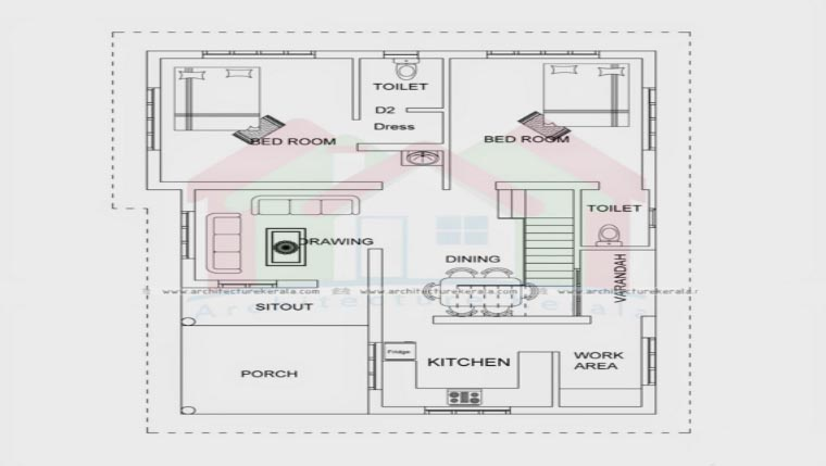 650 Square Feet 2 Bedroom Single Floor Low Budget Home