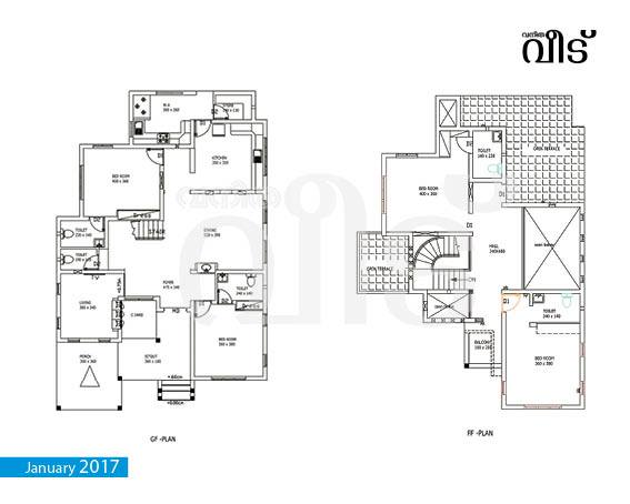 2100 square feet 4 bedroom new modern home design and plan for 2100 sq ft house plans