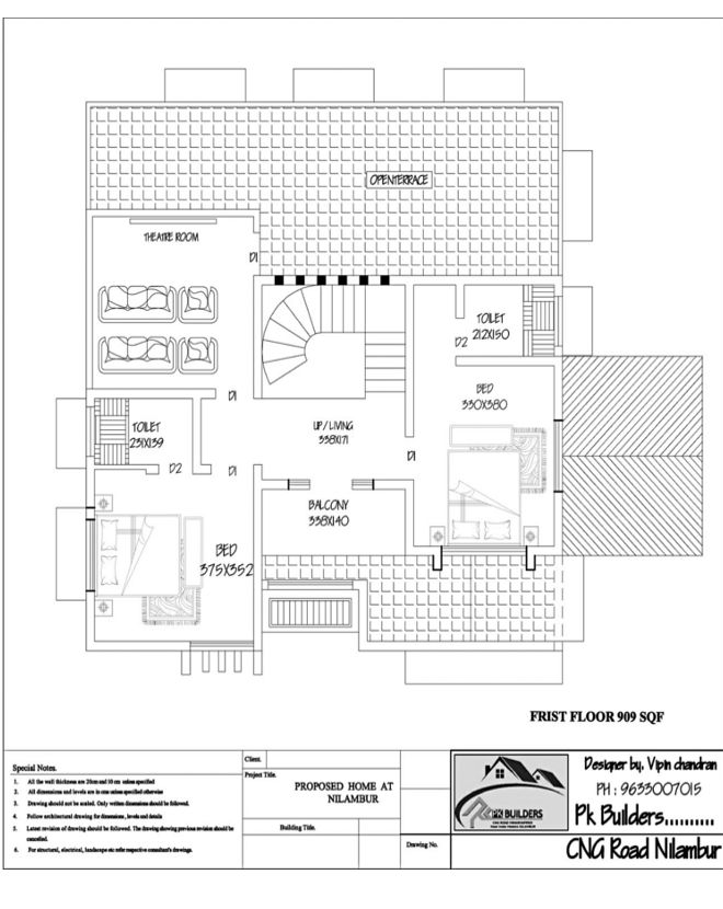 Double Floor Colonial Style Home Part - 42: 2400 Square Feet 4 Attached Bedroom Double Floor Colonial Style Home Design  And Plan