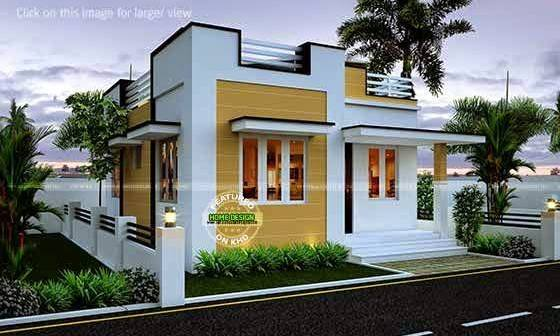 543 square feet 2 bedroom single floor low budget home for Low budget flooring ideas