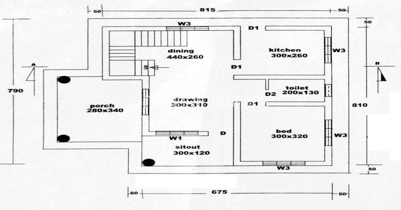 750 Square Feet Single Bedroom Low Budget Home Design and Plan