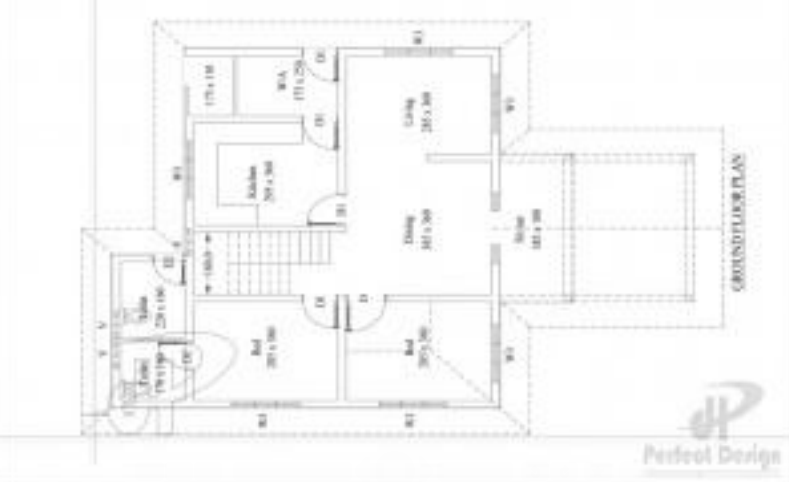 1250 square feet 3 bedroom low budget kerala style home for Kerala style low budget home plans
