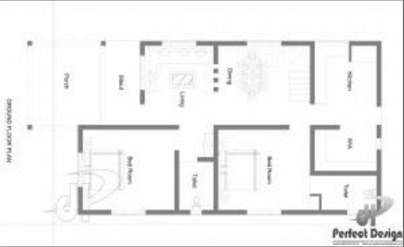 1070 Square Feet 2 Bedroom Latest Model Home Design and Plan