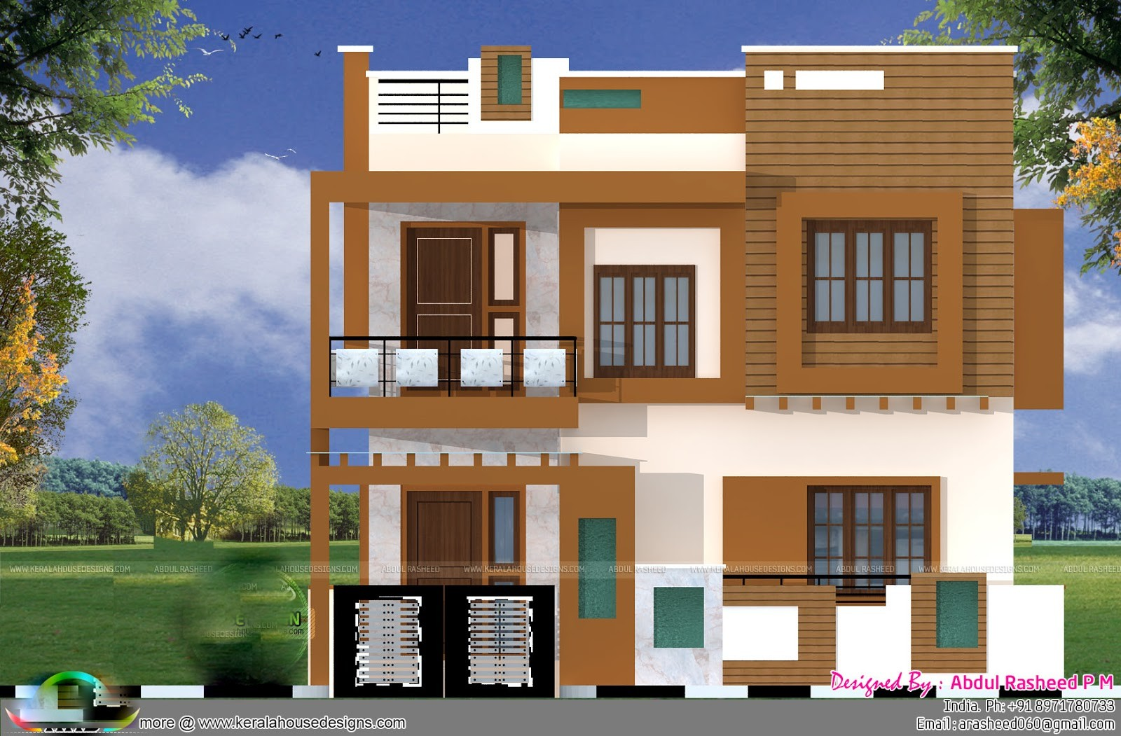1900 Square Feet 4 Bedroom Contemporary Modern Home Design and Plan
