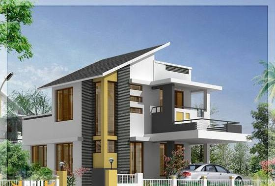 1062 Square Feet 3 Bedroom Contemporary Double Floor Home Design and Plan