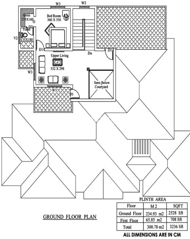 3200 Square Feet 4 Bedroom Traditional Nalukettu Model Home Design ...
