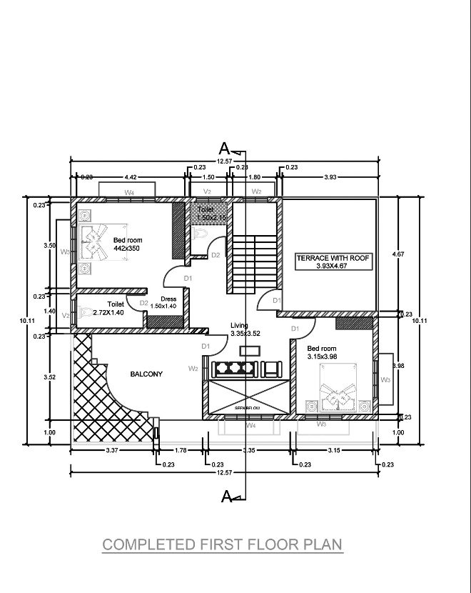 2300 square feet 4 bedroom two story home design and plan for 2300 sq ft house plans