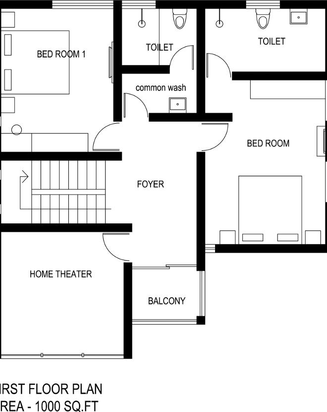 2800 square feet 3 bedroom double floor contemporary home 2800 square foot house plans
