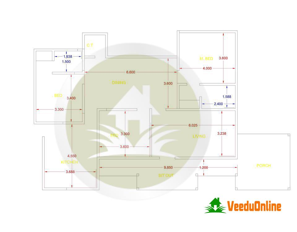 1500 square feet 3 bedroom single floor kerala style home for 1500 sq ft house plans kerala
