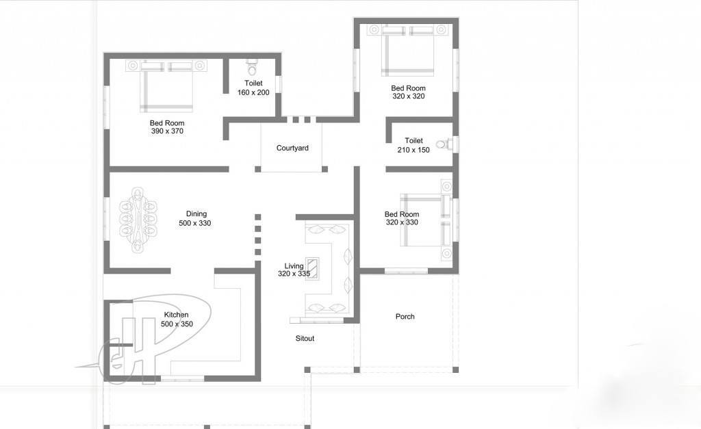 1300 square feet 3 bedroom single floor home design and for 1300 square feet