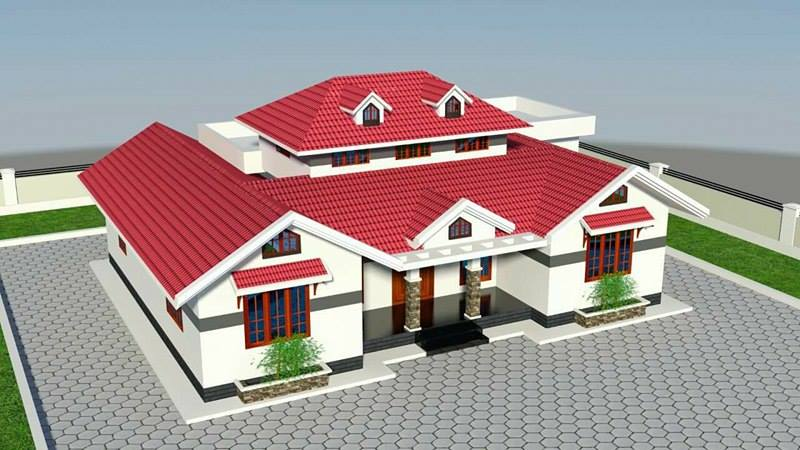 1412 Square Feet 3 Bedroom Kerala Style Traditional Home Design and Plan