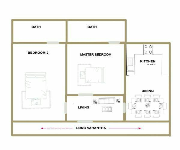 550 square feet 2 bedroom kerala traditional style home for 600 sq ft house plans in kerala