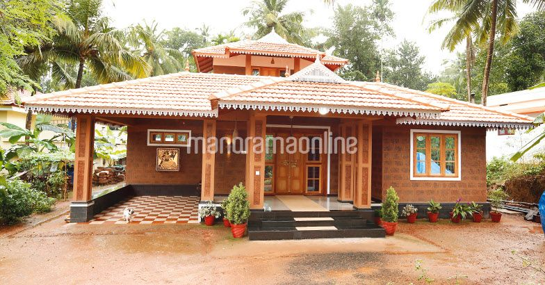 1896 Square Feet 3 Bedroom Chenkkal Stone Home and Plan