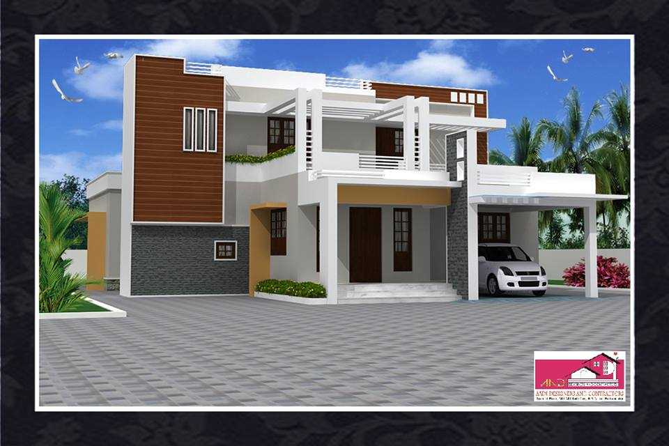 2200 Square Feet 4 Bedroom Double Floor Home Design and Plan