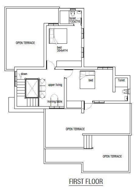 2200 square feet 4 bedroom double floor home design and for 2200 sq ft house plans