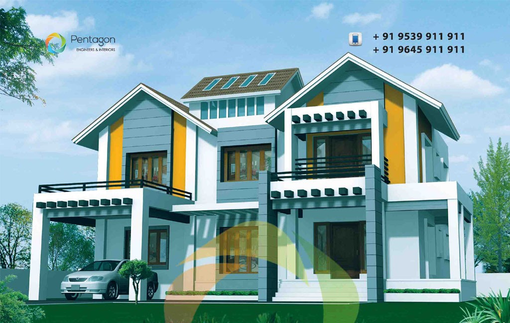 3369 square feet 4 bedroom sloping roof modern home design and plan home pictures easy tips - Architecture home design and tips ...