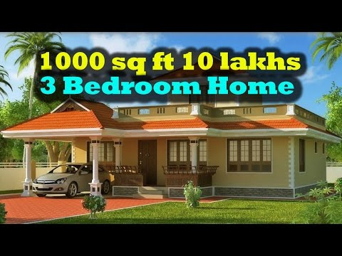 1000 square feet 3 bedroom kerala style small budget home for 10 feet by 10 feet bedroom