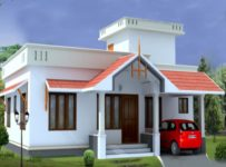 1054 Square Feet 2 Bedroom Low Budget Home Design and Plan