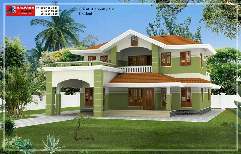2100 Square Feet 4 Bedroom Double Floor Home Design and Plan