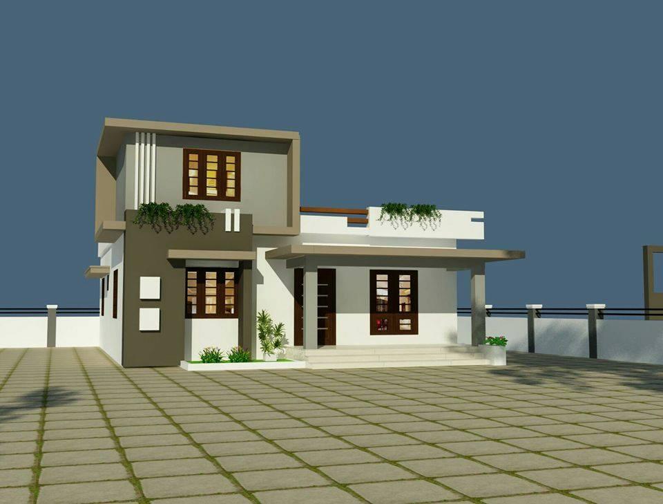 1350 Square Feet 2 Bedroom Low Budget Modern Home Design ...