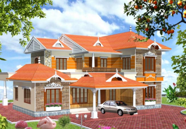 1657 Square Feet 5 Bedroom Traditional Kerala Style Home Design and Plan