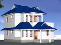 1872 Square Feet 3 Bedroom Sloping Roof Beautiful Home Design and Plan
