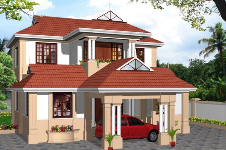 2061 Square Feet 4 Bedroom Kerala Traditional Style Double Floor Home Design and Plan