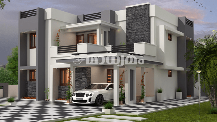2230 Square Feet 4 Bedroom Contemporary Modern Home Design and Plan