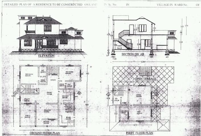 2500 Square Feet 3 Bedroom Beautiful Sloping Roof Home Design and Plan