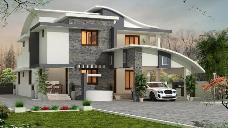 3023 Square Feet 5 Bedroom Double Floor Modern Contemporary Home Design and Plan
