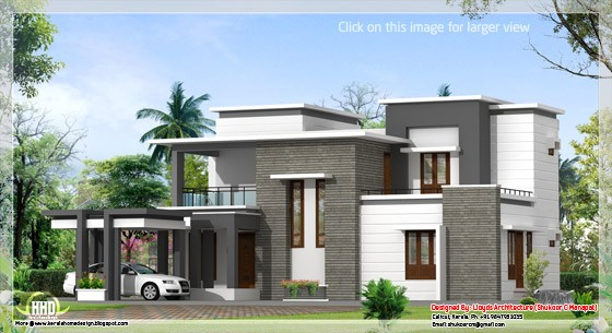 2000 Square Feet 4 Bedroom Amazing Contemporary Home Design and Plan