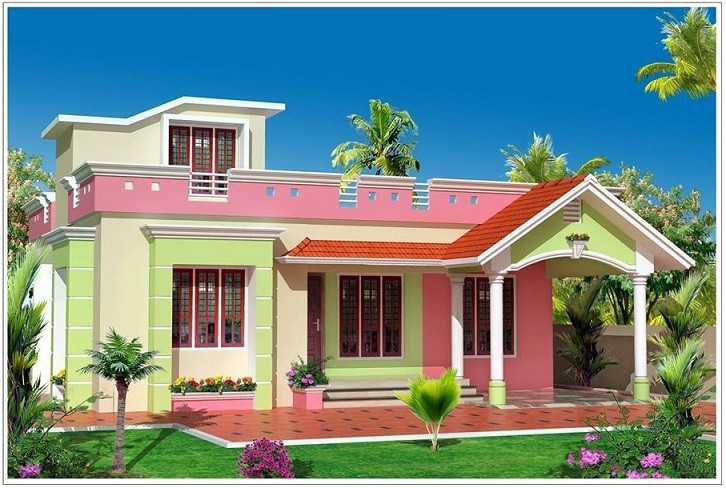 1460 Square Feet 3 Bedroom Small Budget Home Design