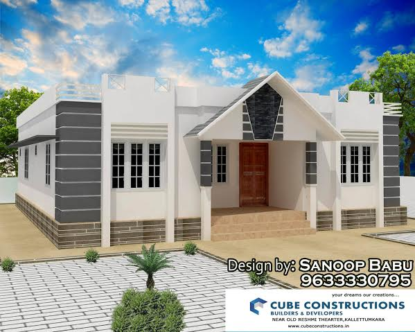 1120 Square Feet 3 Bedroom Low Budget Single Floor Home Design For 17 Lacks