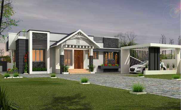 1028 Square Feet 2 Bedroom Low Budget Home Design and Plan