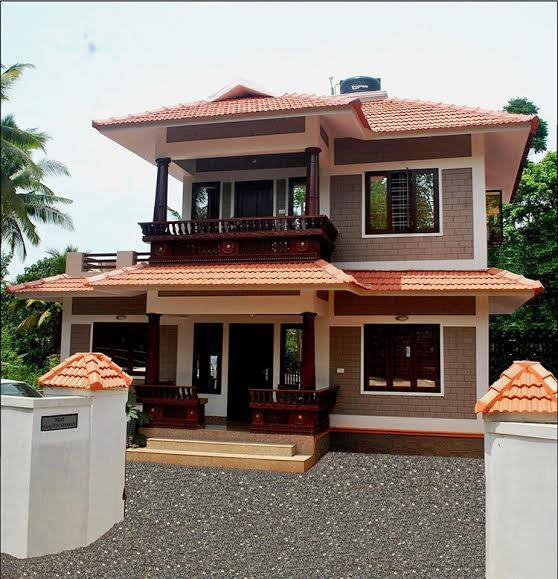 1100 square feet 3 bedroom traditional kerala style double for Kerala home designs photos in double floor