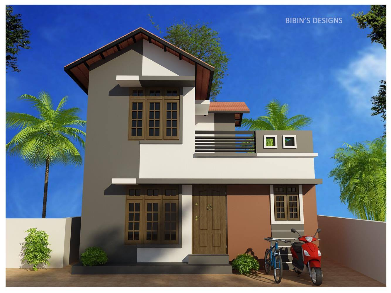 Low Budget Beautiful Kerala House Designs At 1195 Sq Ft: 800 Square Feet 2 Bedroom Low Budget Kerala Style Home